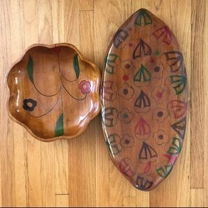 Hand crafted bowl and platter- never used!